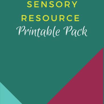 Sensory Resource Printable Pack