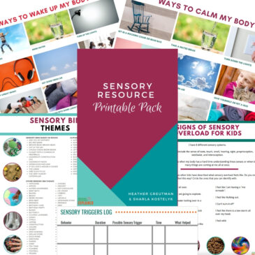sensory resource printable packet collage preview.